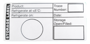 Refrigeration Label